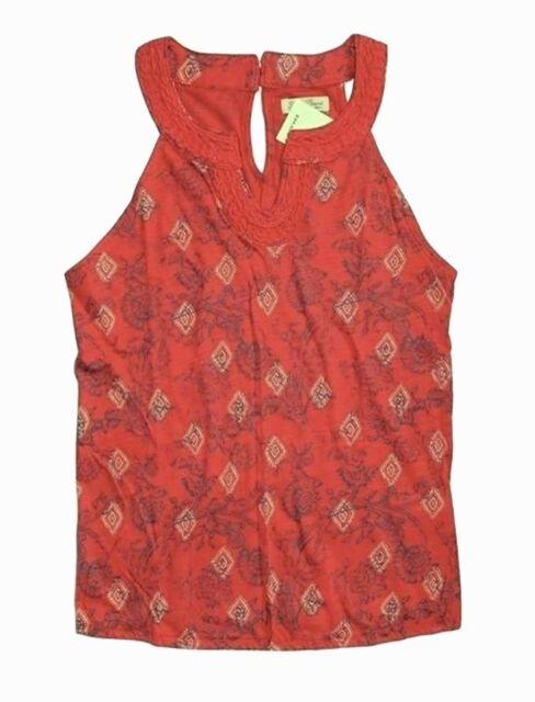 Lucky Brand Abstract Pattern Crochet Knit Tank Top Size Xsmall Ebay