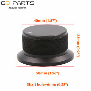 50-25mm-Full-Aluminum-Rotary-Knob-For-Hifi-Audio-AMP-CD-DVD-Volume-Potentiometer