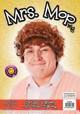 Da Uomo Donne Signora MOP Parrucca & Occhiali Browns Boys TV Costume Nonna Grandma Marrone