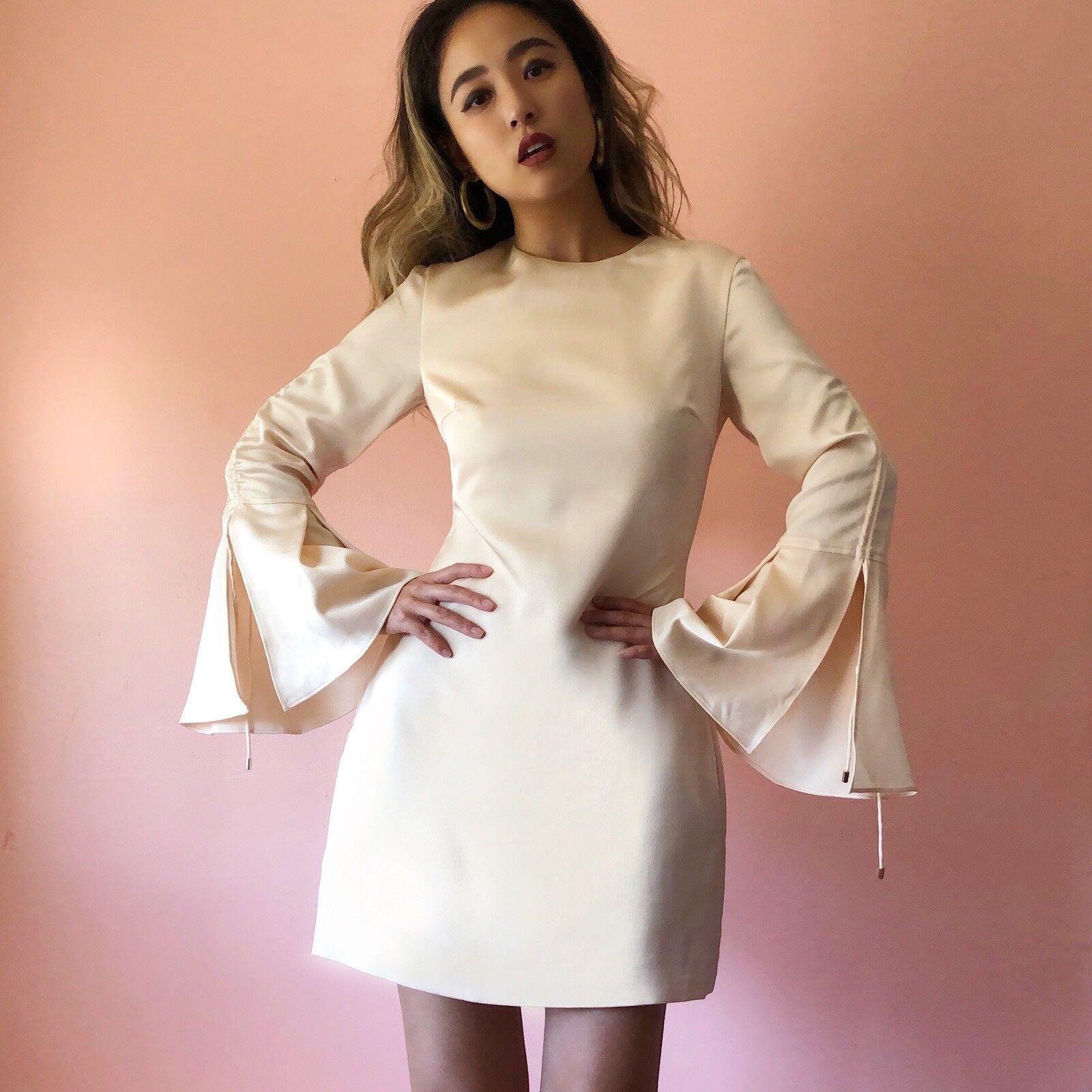 Keepsake Champagne Bell Sleeve Mini Dress NWT