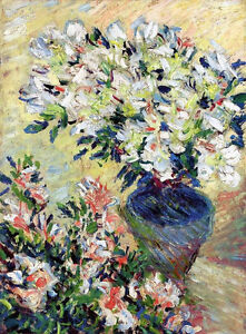 Dream-art Oil painting impressionism still life nice flower in vase Hand painted