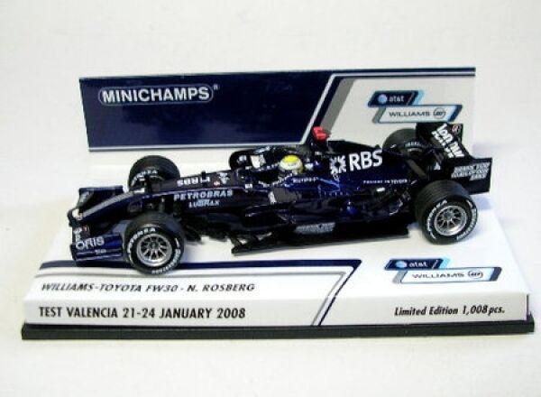 Williams Toyota Fw 30 N°7 N.Rosberg Test Valencia 21-24.1 21-24.1 21-24.1 2008 404b95