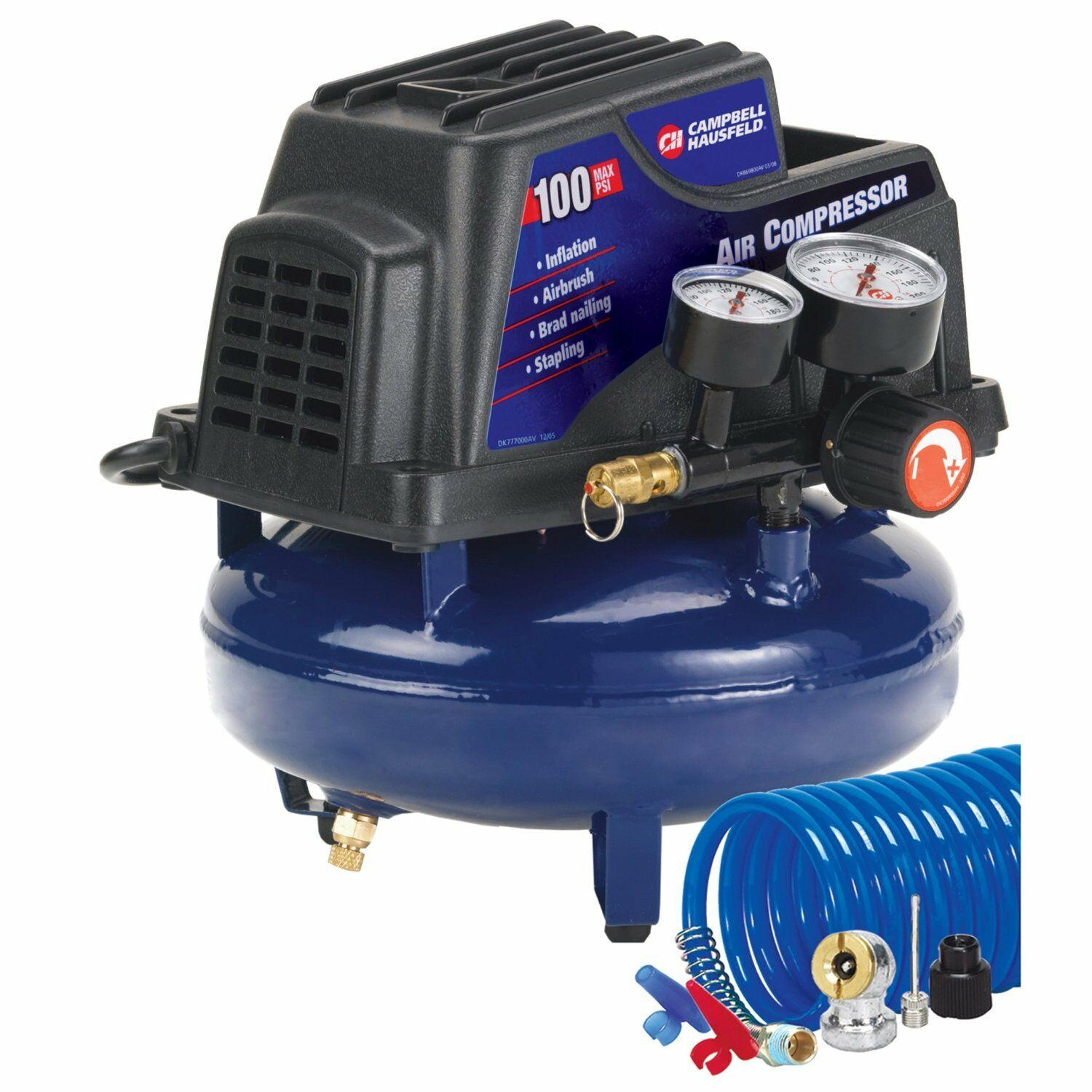 Campbell Hausfeld Air Compressor with Accessory Kit Nailing Tires Inflater