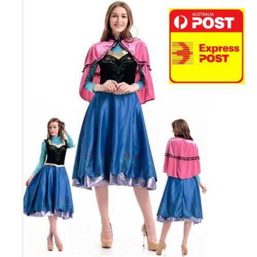 ADULT with cape M L XL ANNA DELUXE COSTUME