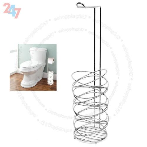 3+1 Rouleau Libre Debout Papier Toilette Tissue Chrome Distributeur Rangement Support S247