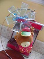 Carlton Cards/American Greetings 2013 Grandson Bear Snowflake Christmas Ornament