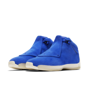 Nike Air Jordan 18 XVIII size 15. Racer bluee Suede. AA2494-401. royal white