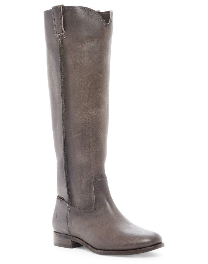 NEW FRYE damen Cara Pull-On Tall Extended Leather Stiefel US 6.5 Smoke grau  78328
