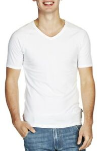 Bonds-Mens-White-Raglan-V-neck-T-shirt-Size-S16-M