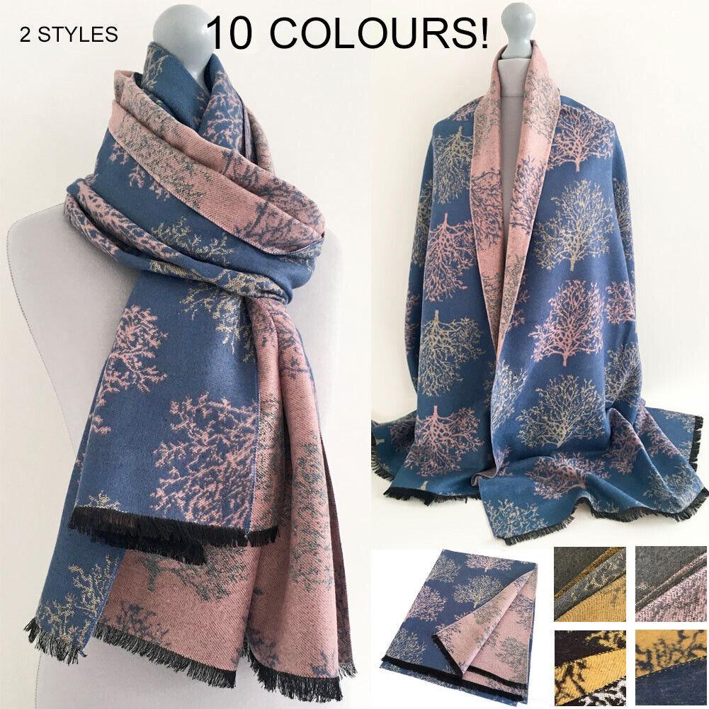 Tree of Life Oversized Scarf Blanket Scarves Pashmina Shawl Wrap Long Large Knit