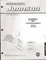 2003 Johnson Outboard Motor 6 Hp 4 Stroke Parts Manual (906)