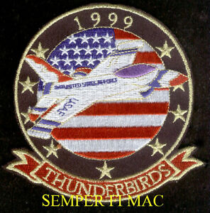 1999-THUNDERBIRDS-US-AIR-FORCE-HAT-PATCH-F-16-FALCON-PIN-UP-NELLIS-AFB-AIRSHOW
