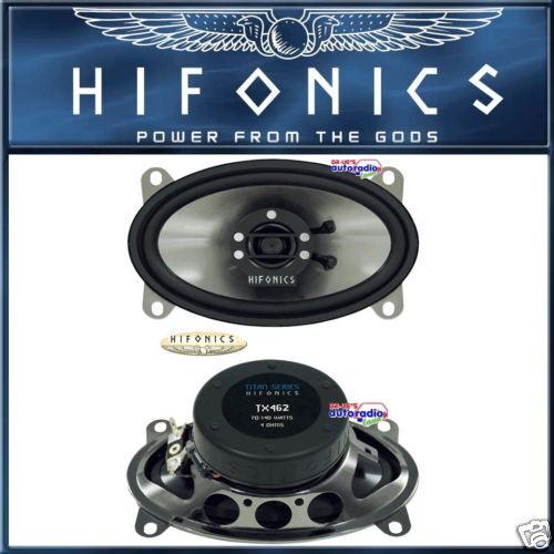 """Hifonics t462 10x 15cm 4/"""" x 6/"""" oval 2-caminos altavoces especiales"""