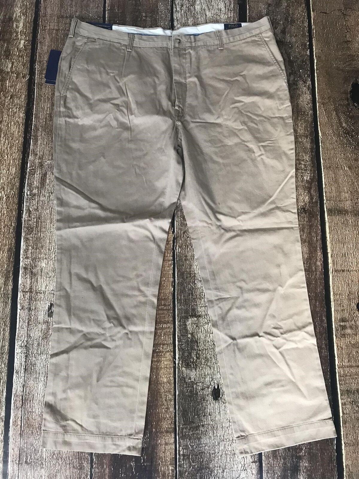 Polo Ralph Lauren Stretch Classic Fit Boating Khaki Mens 32x32 New
