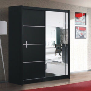 kleiderschrank vista 150 schrank mit spiegel schwebet renschrank schiebet r ebay. Black Bedroom Furniture Sets. Home Design Ideas