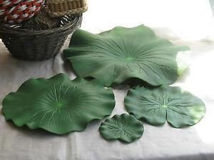 5PCS-Pond-Leaves-Artificial-Lotus-Foliage-Imitation-Lily-Leaf-Pool-garden