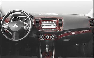 MITSUBISHI OUTLANDER LS SE GT XLS INTERIOR WOOD DASH TRIM KIT SET 2011 2012 2013