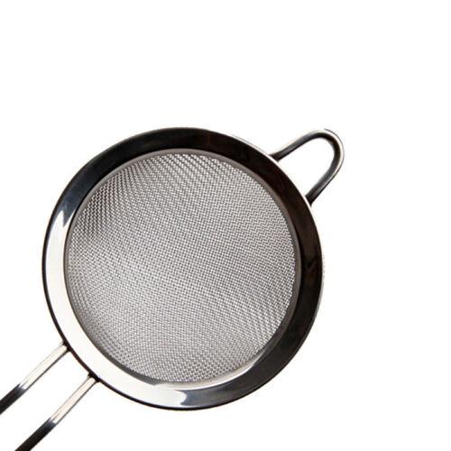 Neu 8cm Silber Küchensieb EdelstahlSeiher Passiersieb Abgießhilfe I3R1
