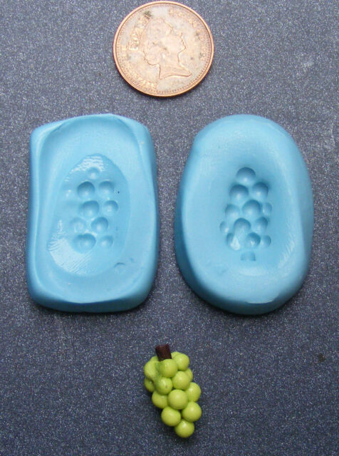 1:12 Reusable Grapes Bunch Mold Mould Dolls House Miniature Fruit Accessory