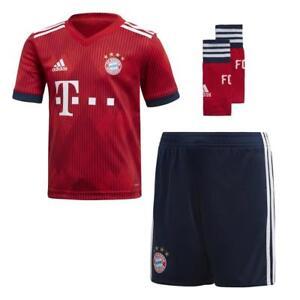sports shoes c2e76 18a51 Details about Adidas Bayern Munich Home Mini Kit 2018/2019