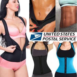 48ca8dfc39 Image is loading Sweat-Sauna-Zipper-Body-Shaper-Women-Slimming-Vest-
