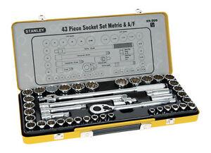 Stanley 89509 1/2'' Metric & Imperial Socket Set - 43 Piece
