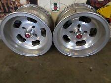 4 bolt unilug aluminum Slot wheels 13x7 3 3/8 back space 2 wheels