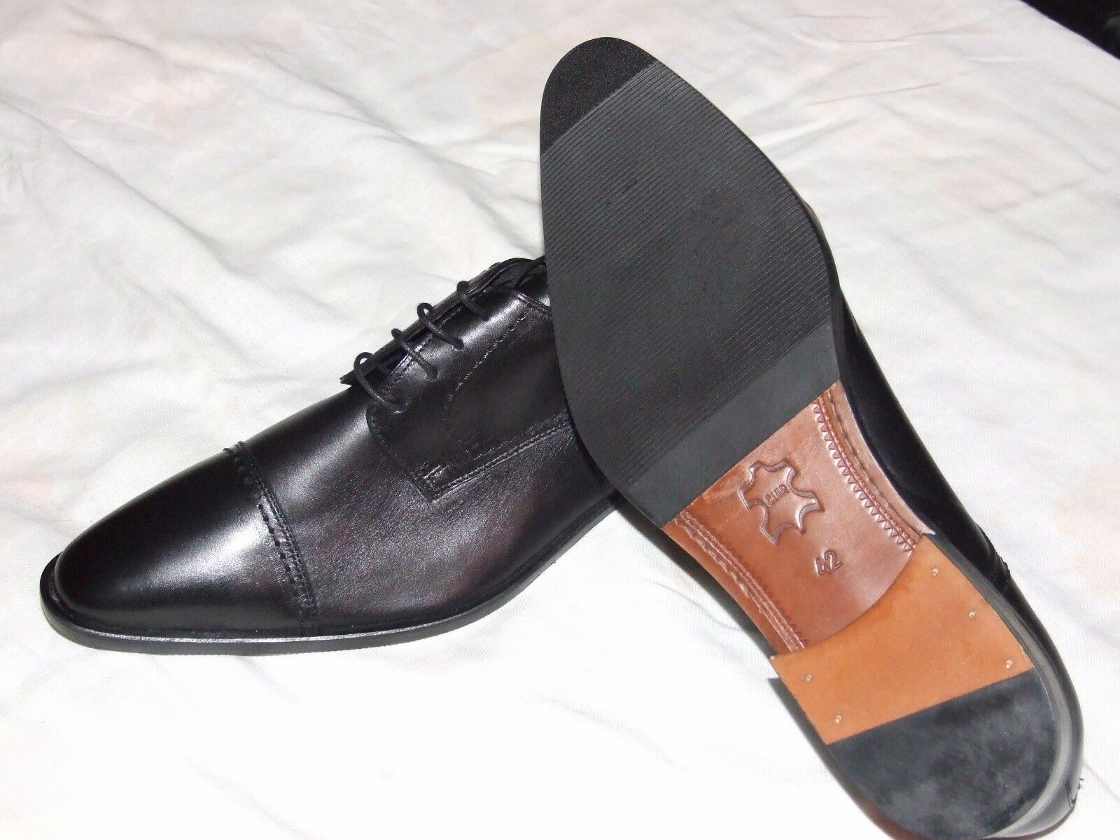 Leater shoes Cuir in Black For Men  size 41-42