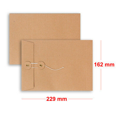 C5 Size Quality String/&Washer Manilla With Gusset Envelopes Button-Tie Cheap