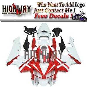 Injection-ABS-Fairing-Bodywork-Kits-For-Honda-CBR600-CBR600RR-F5-05-06-White-Red
