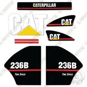 Caterpillar 236B 2-speed Kit de Pegatinas Equipamiento Calcamonías Mayor Estilo