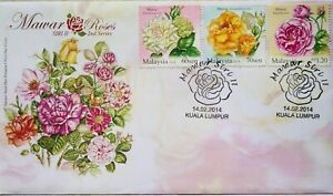 Malaysia FDC with Stamps (14.02.2014) - Roses 2nd Series