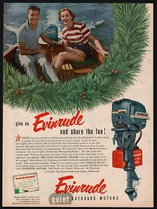 1953-EVINRUDE-Outboard-Motor-Boating-Christmas-AD