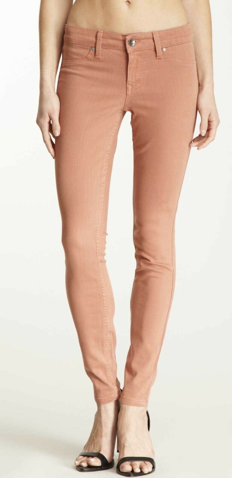 NWT LEVEL 99 Sz 25 JANICE MID RISE ULTRA SKINNY JEAN NUDIE RUST TENCEL