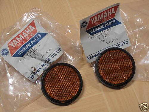 Yamaha PW50 YFM80 YFM100 YFM200 YFM225 YFM350 Reflector NOS x2 P//N 517-85111-02