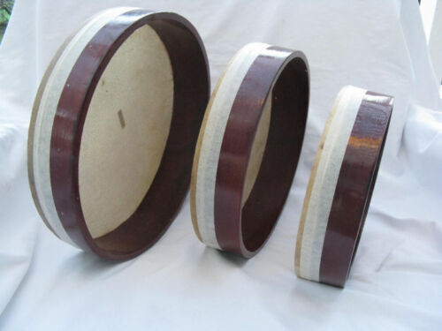 "Egyptian Deff Set Drum-Tambourine-3 Pieces 12/"" 8.5/"""