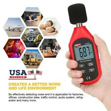 Black Detector Portable Decibel Meter Noise Tester Sound Level Meter for Construction with Measuring Level Range 35dB to 135dB