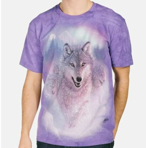 Boreale shirt Wolves Arcobaleno Lupo Northern T Viola aurora Lights RSxqtZXF