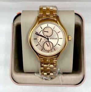 ORIGINAL-FOSSIL-Daydreamer-Rose-Gold-Tone-Stainless-Steel-Woman-039-s-Ladies-40mm