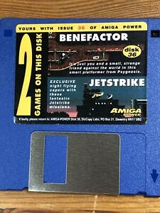 Amiga-Power-Magazine-cover-disk-36-Benefactor-Jet-strike-TESTED-WORKING
