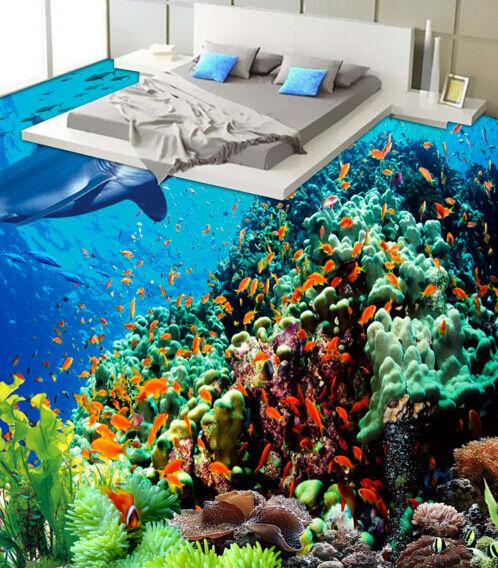 3D Große Haie, Korallen 27 Fototapeten Wandbild Fototapete BildTapete Familie DE