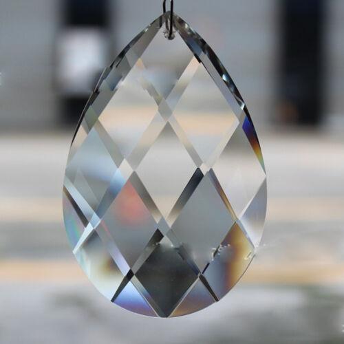 10Pcs Clear Glass Crystal  Hanging Drop Chandelier Ceiling Lamp Prism Pendant