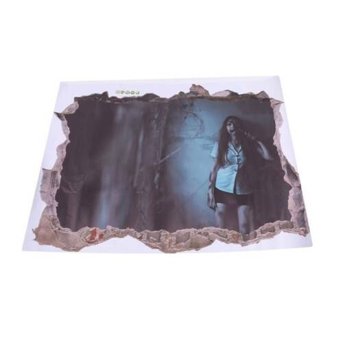 The Walking Dead Zombies 3D Torn Hole Ripped Wall Sticker Decal Decor Art  LJ