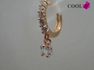 18-Karat-Gelbgold-Diamant-Stern-baumelt-Ohrringe