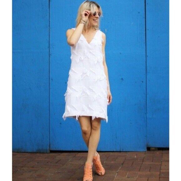 Anthropologie Fringework Shift Dress Dress Dress NWT new size 4P 2c8640