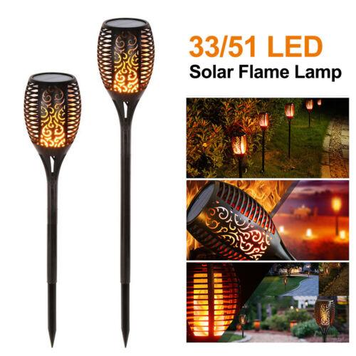 Solaire 51//33LED Flamme Lampe étanche IP65 pour Jardin Paysage Décoration lumière chaude