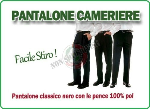 Pantalone Uomo Matteo 90 Cameriere Sala Ristorante Hotel Receptionist Giblor/'s