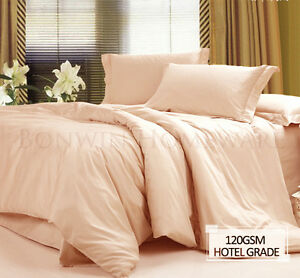NEW-HOTEL-QUALITY-1000-WRINKLE-FREE-EASYCARE-DOUBLE-BEDDING-SHEET-SET-IN-SAND