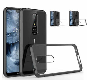 watch 893d3 f2e7c Details about For Nokia 6.1 Plus (Nokia X6) Hybrid Soft TPU Shockproof  Bumper Clear Case Cover