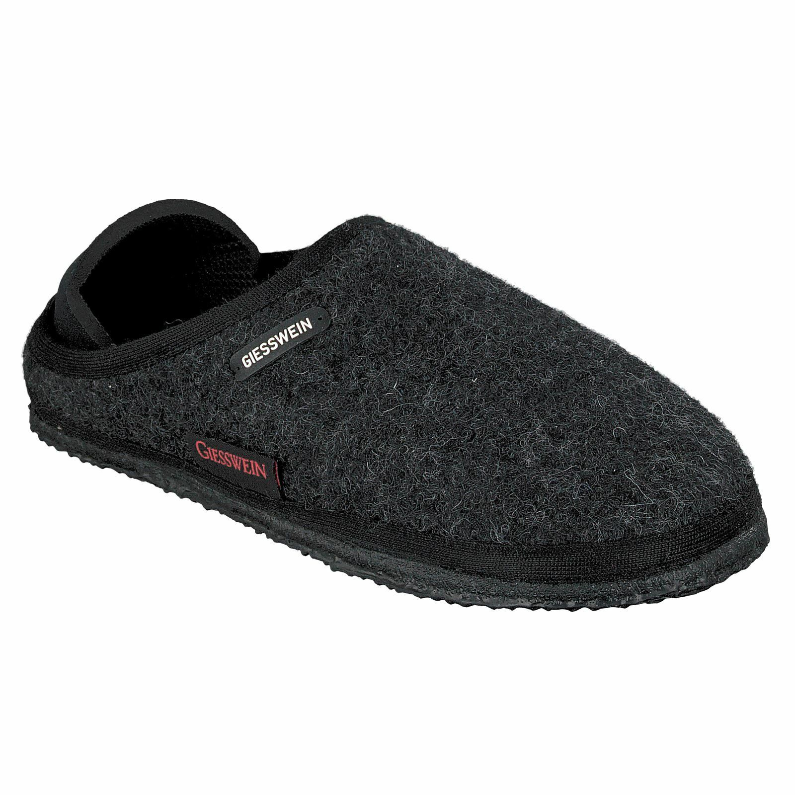 Giesswein Neritz Anthracite Damenschuhe Wool Closed Back Schuhes Slippers Mule